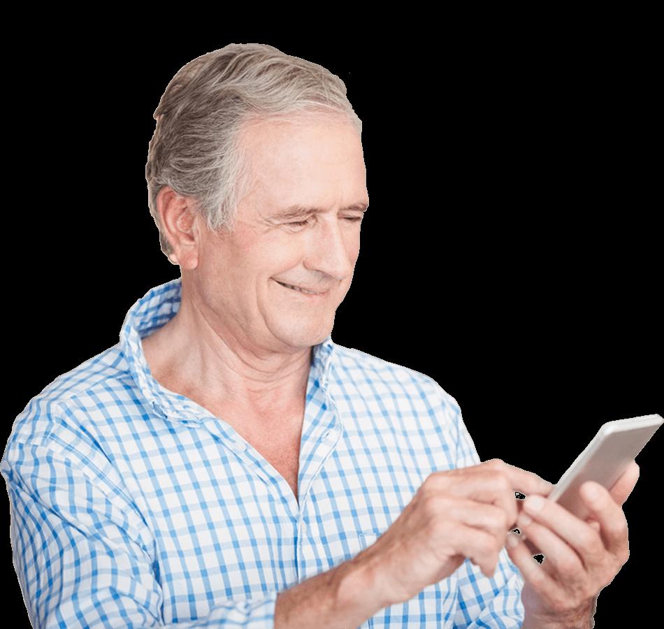 man-patient-browsing-wellframe-app