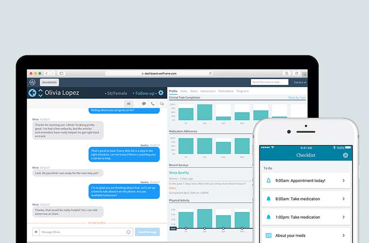 Wellframe digital health management solution